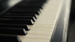 Piano keys tracking right Stock Footage