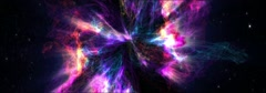 Colour space nebula (widescreen loop) Stock Footage