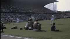 Duisburg 1970s, Bundesliga match: Msv Vs Bayern Munich Stock Footage