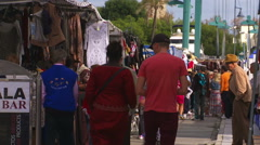 Estepona Sunday market, Spain Stock Footage