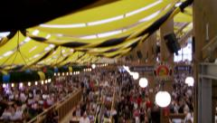 Tapestry And People At Ocktoberfest Stock Footage