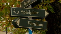 German Signs Stock Footage