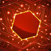 circuit board vector background - stock illustration