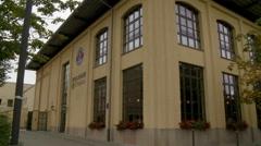 German Paulaner Wirthaus Building Stock Footage