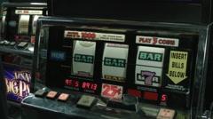 SLOT MACHINE / WINNING SPIN Stock Footage