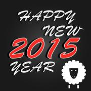 Happy New Year 2015 celebration background. Vector - stock illustration