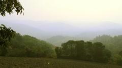 Toscana morning haze - stock footage