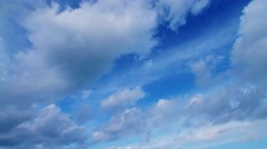 Blue sky clouds timelapse. Cold version - stock footage