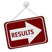 Results sign Stock Illustration