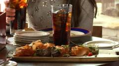 Restaurant Food Tapas Stock Footage