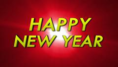 Happy New Year Text - stock footage