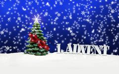 1. advent - gifts - blue - snow Stock Illustration