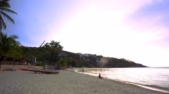 Koh Samui. Thailand. 20 july 2014. 4k Time lapse of beach and tropical sea. Stock Footage