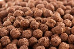 cereal chocolate balls as background - stock photo