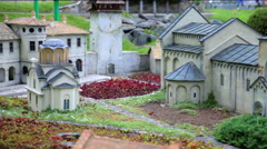 Magnificent Studenica Monastery in Serbia Stock Footage