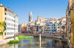View of the city of girona Stock Photos