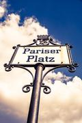 Pariser platz in berlin, germany Stock Photos