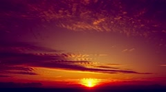 Glorious sunset time lapse Stock Footage