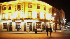 Traditional British pub in Greenwich Stock Footage