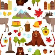 Canada seamless pattern - stock illustration
