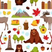 Canada seamless pattern Stock Illustration