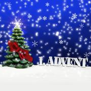 1. advent - gifts - blue - snow - stock illustration