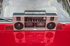 Radio cassette recorder Stock Photos