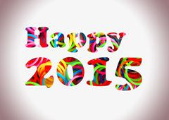 happy 2015 colorful loom bands multi color - stock illustration