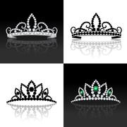 Tiara set isolated Stock Illustration