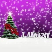 Stock Illustration of 1. advent - gifts - pink - snow