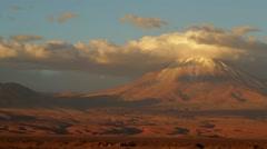 Volcano Licancabur Stock Footage