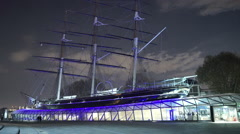 Cutty Sark Old Sailing ship Greenwich London - stock footage