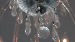 Chandelier Crystal | Tracking Shot | Close Up Stock Footage