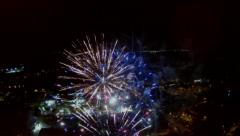 Aerial View of Fireworks Stock Footage