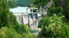 Diablo Dam in North Cascades National Park - stock footage