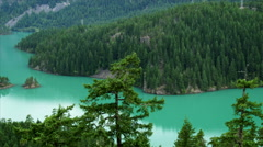 Diablo Lake in North Cascades National Park Stock Footage