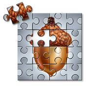 investing puzzle - stock illustration