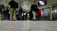Commuters in Pennsylvania Station, New York City Stock Footage