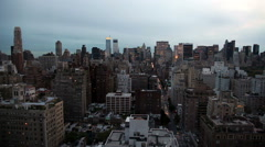 New York City Skyline at Dusk Stock Footage
