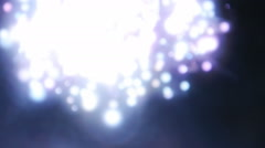 White spheres glowing and moving - stock footage