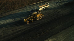 Midwest Highway Construction - stock footage