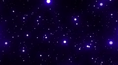 Blue Glowing Spheres Stars Starfield Loop 2 - stock footage