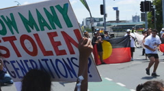 How many stolen generations demo at G20 4K Stock Footage