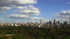 Central Park Time Lapse. Central Park in Fall. Stock Footage