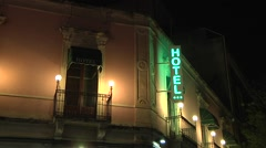 Hotel sign. N 00153 Stock Footage