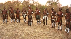 African tribal song and dance variations in Victoria Falls, Zimbabwe. Stock Footage