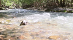 River in the mountains. Pamir, Tajikistan. 1280x720 Stock Footage