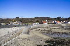 guernsey coastline - stock photo