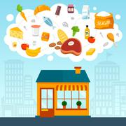 Stock Illustration of Grocery store concept
