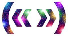 Set of punctuation signs, firework Stock Illustration